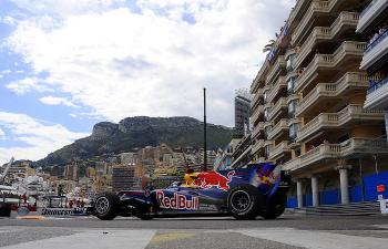 Sebastian Vettel drives on the Monaco street circuit during the Formula One Monaco Grand Prix. (Fred Dufour/AFP/Getty Images)