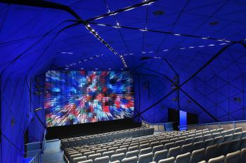 BETTER VIEW: The theater at the Museum of the Moving Image features new projectors for sharper, high-definition video.  (Courtesy of The Museum of Moving Images)