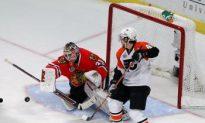 Chicago Blackhawks Barely Survive Philadelphia Flyers Onslaught