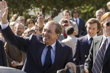 POST WATERGATE: Frank Langella plays Richard Nixon and Michael Sheen (2nd from right) plays journalist David Frost in Ron Howard's new film Frost/Nixon. (Universal Pictures)