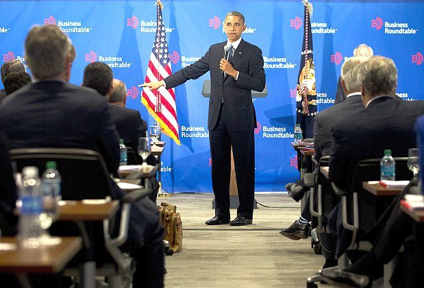 President Obama speaks on the debt ceiling negotiations during the Washington Business Roundtable in Washington, Dec. 5. (Saul Loeb/AFP/Getty Images)