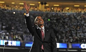 Obama Wows Mile High Crowd