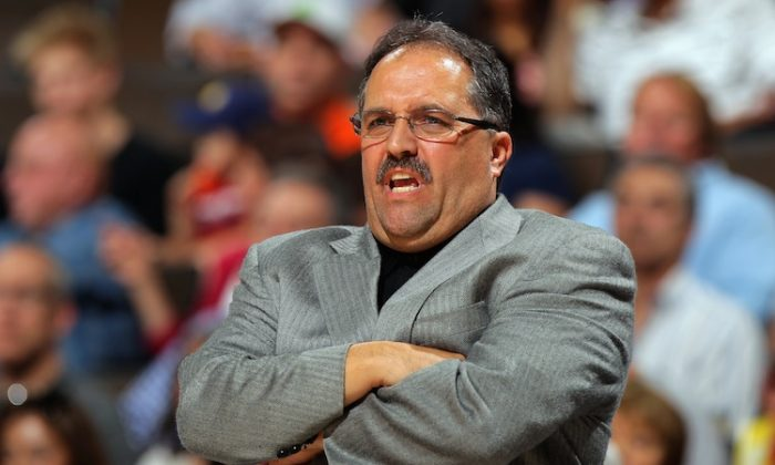 Former head coach Stan Van Gundy of the Orlando Magic shown here after the team's loss to the Denver Nuggets at Pepsi Center on April 22, 2012 in Denver, Colorado. (Doug Pensinger/Getty Images)