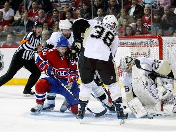 SHUT OUT: Pittsburgh goalie Marc-Andre Fleury slammed the door on the Montreal Canadiens. (Richard Wolowicz/Getty Images)