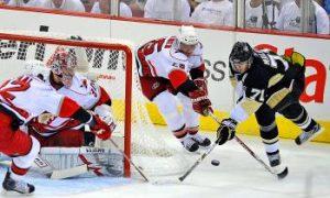 Malkin Hat Trick Gives Pens 2—0 Series Lead