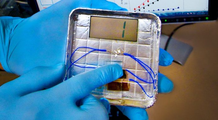 The virus-based piezoelectricity device. (Lawrence Berkeley National Laboratory)