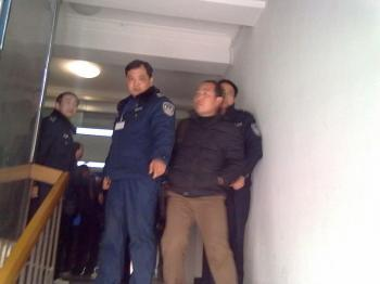 Police in China break up and make arrests at a private gathering of activists celebrating Mubarak's resignation. (Courtesy of a Chinese activist)