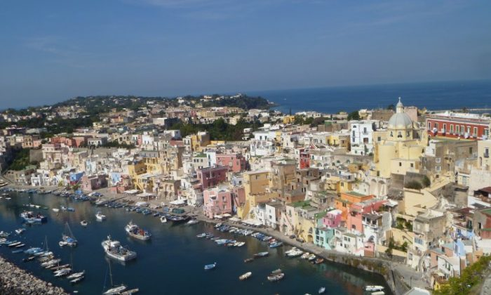 A bird's eye view of the island of Procida in Southern Italy, which sits near the city of Naples and the island of Ischia. (Courtesy of C.W. Ellis)