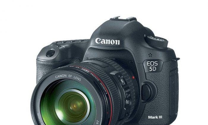 Canon's new EOS 5D Mark III professional DSLR camera. (Courtesy of Canon)