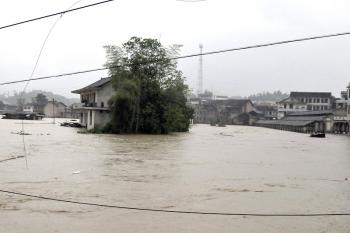 On May 6, much of Hunan was devastated by heavy rainstorms. (AFP/Getty Images)