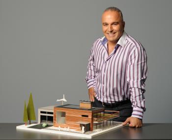 CityLine's Ramsin Khachi shows off his mini-house. (Salvatore Sacco)