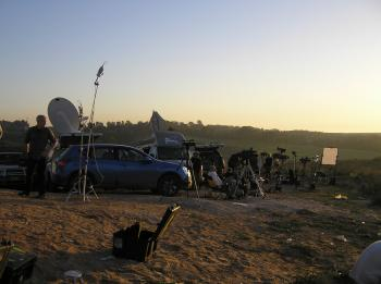 The beauty of the desert belies the violence and peril, both in Sderot and across the border in Gaza.  (The Epoch Times)