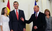 Prince and Princess of Asturias Welcomed by Romanian President