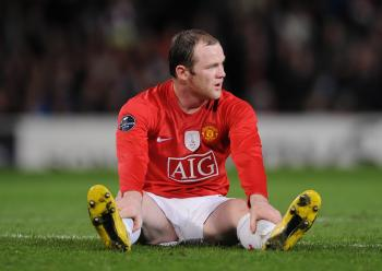 BAD RESULT: A frustrated Wayne Rooney knows Manchester United faces a big challenge in Porto next Wednesday. (Shaun Botterill/Getty Images)