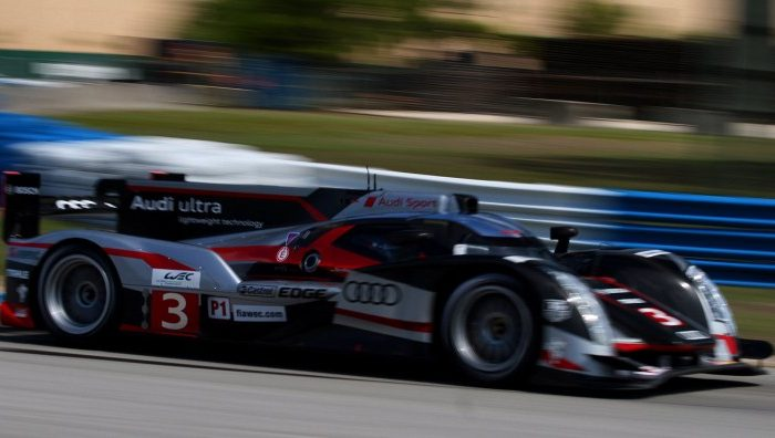 The No.6 Muscle Milk HPD was third fastest, only .46 seconds off the pace of the lead Audi. (James Fish/The Epoch Times)