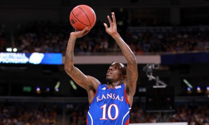 Kansas guard Tyshawn Taylor scored 22 points as Kansas makes it to its second Final Four under head coach Bill Self. (Andy Lyons/Gety Images)