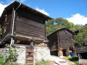 Mund is a small Wallis Village, sporting unusual Wooden Homes (Elke Backert/The Epoch Times)