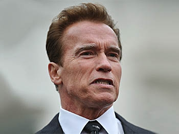 California Governor Arnold Schwarzenegger February 22, 2010 at the White House in Washington, DC. (Mandel Ngan/AFP/Getty Images)