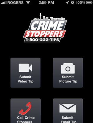 The Toronto Crime Stoppers app takes video, photos, and makes calls, sending the information directly—and anonymously—to Crime Stoppers. There is also an up-to-date list of Toronto's most wanted. (Epoch Times)