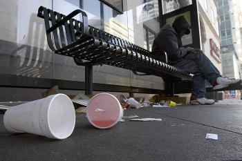 Used styrofoam cups&#8212they get used once and last forever. (David Paul Morris/Getty Images)