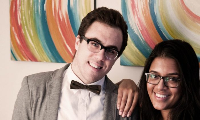 Kane Sarhan (L) and Shaila Ittycheria, co-founders of a new two-year apprenticeship program.