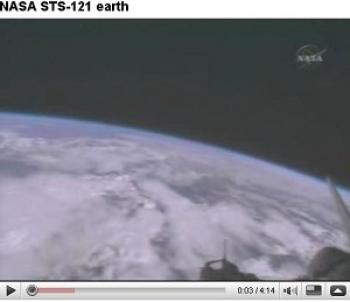 NASA image of the earth taken from space on July 2006. In this video snapshot, the atmosphere can be clearly seen. ()