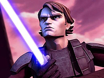 """Anakin Skywalker in a scene from the new animated """"Star Wars"""" film. (Lucasfilm/ Warner Bros. Pictures)"""