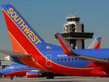 Southwest Airlines plans to purchase bankrupt Frontier Airlines. (Justin Sullivan/Getty Images)
