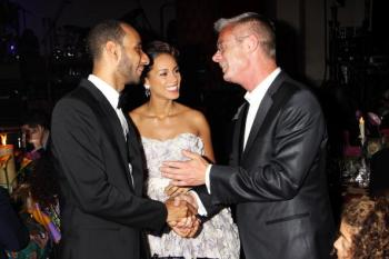 Swizz Beatz, Alicia Keys and Stephen Daldry (L-R) attend the Keep A Child Alive Black Ball at held at St John's, Smith Square on May 27, 2010 in London, England. (Getty Images/Getty Images)