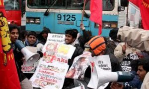 Protesters Hit the Streets in Support of Sri Lankan Tamils