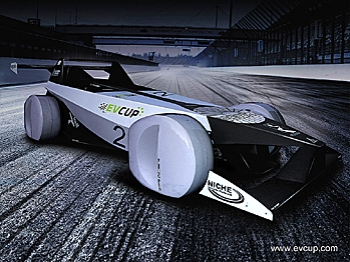 EV Cup is the world's first electric car racing series, held on real race tracks, where going fastest is what matters. (Courtesy EV Cup)