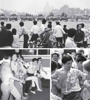 Students were massacred around Tiananmen Square on June 4, 1989, after pro-democracy protets. (Boxun.com)