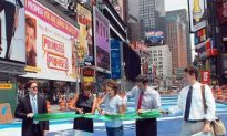 Times Square's 'Great White Way' Turns Blue