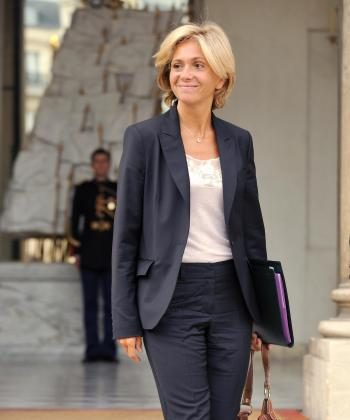 French Higher Education and Research Minister Valerie Pecresse leaves the Elysee palace after the weekly cabinet meeting.  (Eric Feferberg/AFP/Getty Images)
