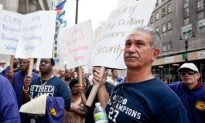 Security Staff Protests CUNY Budget Cuts