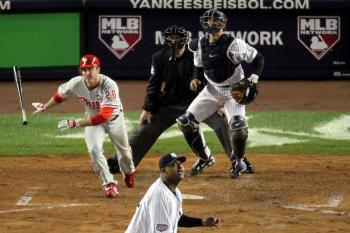 Chase Utley's second solo homer of the game came in the sixth inning. (Chris McGrath/Getty Images )