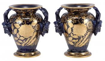 VASE COLLECTION: A group of 33 Per Lutkin glass vases, manufactured by Holmegaard Glassworks, Fensmark, Denmark, estimated by Sotheby's at $4,000 to $6,000. (Courtesy of Sotheby's)