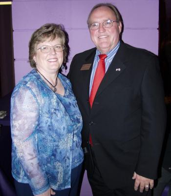 Tom Barnhorn, vice mayor of Seminole, Florida, and his wife Rayma, enjoyed a Divine Performing Arts production for the second time. (Maureen Gamrecki/The Epoch Times)