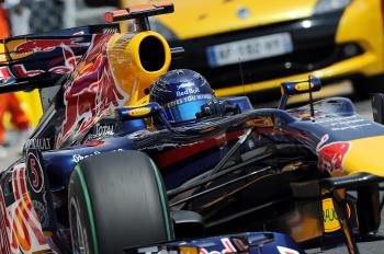 Sebastian Vettel drives during qualifying for the Monaco Formula One Grand Prix. (Fred Dufour/AFP/Getty Images)