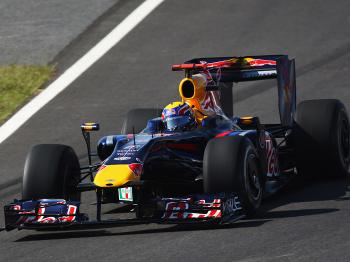 Red Bull's Mark Webber had a terrible weekend and a miserable race, yet ended up setting fastest lap. (Mark Thompson/Getty Images)