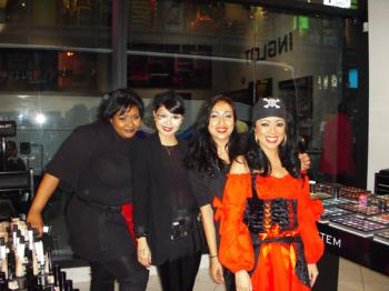 THE WOMEN OF INGLOT: Inglot's staff. (Christine Lin/The Epoch Times)