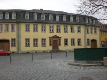 The duke's present to Goethe: the house at Frauenplan, where he wrote from 1782 to his death. (Joachim Frank)