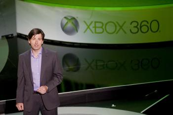 KINECT SUCCESS: A Microsoft executive announcing the launch of the XBox Kinect. The Kinect has sold out across the United States just two days after its launch. (Michal Czerwonka/Getty Images)