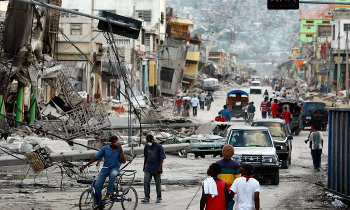 Many buildings are seen on Jan. 16, 2010, reduced to rubble by a massive earthquake that hit Haiti on Jan. 12, killing as many as 316,000 people, in Port-au-Prince. (Joe Raedle/Getty Images)