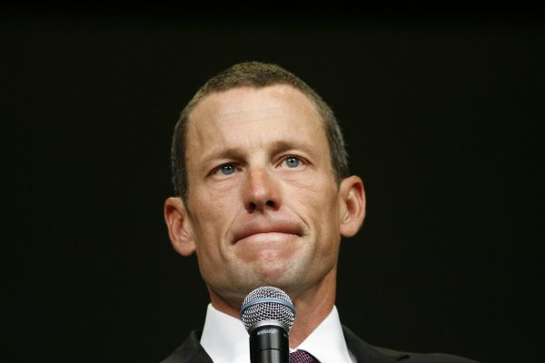 Lance Armstrong at the Livestrong Global Cancer Summit in Dublin, Ireland, in Aug. 24, 2009. Armstrong won the Tour de France seven consecutive times from 1999 to 2005, but was stripped of those victories in 2012 after a protracted doping scandal. (Peter Morrison/AP)