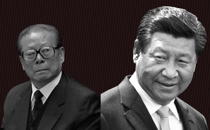 Former leader of China Jiang Zemin. (Wang Zhao/AFP/Getty Images) and current leader  Xi Jinping (Hagen Hopkins/Getty Images)