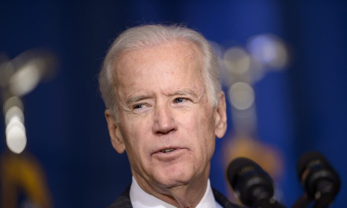 Joe Biden, potential 2016 presidential contender, in a file photo from April 9, 2015. (AFP/Getty Images)