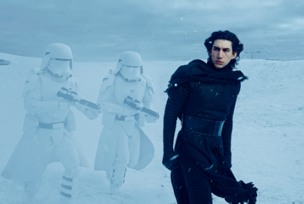 Adam Driver in Star Wars Episode 7 as one of the villains. (Lucasfilm)