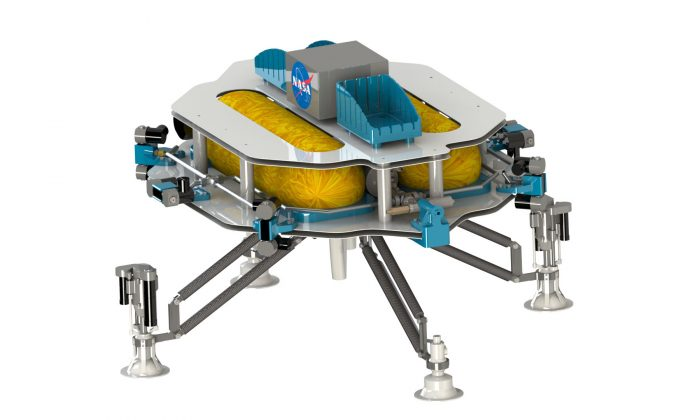 An artistic rendering if the Extreme Access Flyer, NASA's mineral prospecting drone bound for Mars (NASA)