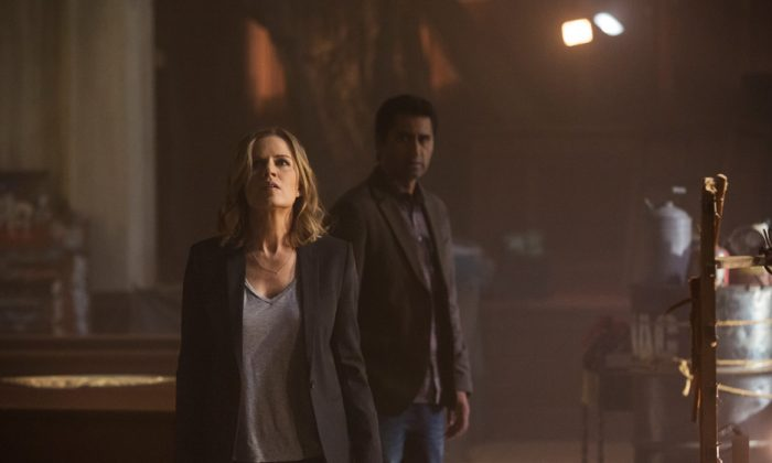 Madison (Kim Dickens) and Travis (Cliff Curtis) in Fear The Walking Dead. (Justin Lubin/AMC)